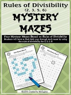 Each of the four mazes include a review of divisibility rules making this the perfect set to test your students' knowledge or help them practice for that important state test! ($)