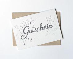 Gutscheine - Klappkarte - Gutschein mit Tropfen in blau, lila - ein Designerstück von lumilarie bei DaWanda