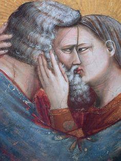 La rencontre d'Anne et Joachim à la porte dorée. Rencontre à la Porte Dorée, Giotto, vers 1304-1306