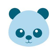 Oso azul - Icono Baloo - Canal de Youtube - Familia, padres, niños, Bebés - Ilustración infantil
