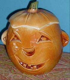 RARE Vintage Original McCoy Pumpkin Jack O Lantern Cookie Jar