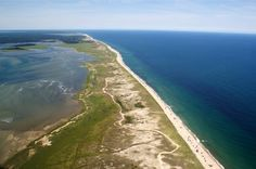 """""""Nauset Beach Aerial Photo"""" by Christopher Seufert, Chatham, Cape Cod // ©Christopher Seufert Photography http://www.CapeCodPhoto.net // Imagekind.com -- Buy stunning, museum-quality fine art prints, framed prints, and canvas prints directly from independent working artists and photographers."""