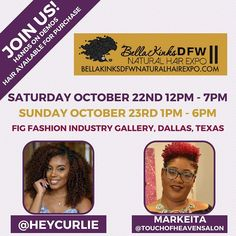 D F W !  We will be in the house at @bellakinksdfwnaturalhairexpo with special guests @heycurlie & licensed cosmotologist extraordinaire Markeita from @touchofheavensalon . . Come see us in the KinkyCurlyYaki SUITE to touch feel and see what texture would be a perfect match for you. . . We will be on hand giving live demos and showing you how to easily work our clip ins and wigs into your protective style arsenal. And of course we will have hair on hand for purchase with exclusive onsite…