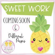 Cute Pineapple, Coming Soon Page, 1st Grade Worksheets, Easel Activities, Teaching Tools, Teacher Newsletter, Bulletin Board, Doughnut, More Fun