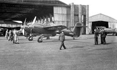 The first Westland Whirlwind ever made, outside a hangar, 1938 Air Force Aircraft, Navy Aircraft, Ww2 Aircraft, Fighter Aircraft, Military Aircraft, Fighter Jets, Angle Saw, Westland Whirlwind, Sf V
