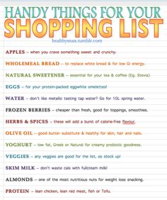 Perk Up Your Shopping List