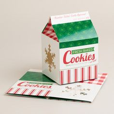 One of my favorite discoveries at WorldMarket.com: Holiday Milk Carton Treat Boxes, 2-Pack