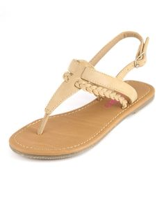 Bella Marie Beige Braided T-Strap Sandal Simple Sandals, Kids Sandals, T Strap Sandals, Flat Sandals, Graduation Shoes, Mango Shoes, All About Shoes, Huaraches, Summer Shoes