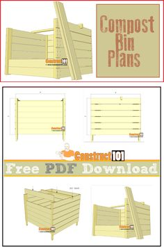 free backyard shed plans Backyard Projects, Garden Projects, Home Projects, Outdoor Projects, Build Compost Bin, Garden Compost, Composting Bins, Garbage Can Shed, Compost Tumbler