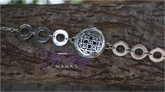 Old World Cross (30mm) with Ringed Band Aromatherapy / Essential Oils Diffuser Locket Bracelet