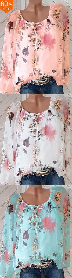 9f9674591e1 Women Off Shoulder Floral Print 3 4 Sleeve Shirts