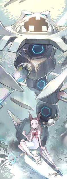 Jasmine and Mega Steelix
