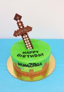 Kid's Minecraft Birthday Cake