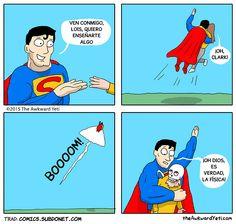 Imágenes divertidas: Superman y la física →  #Fotosgraciosas #Imagenescomicas #Imagenesconhumor #imagenesdivertidas #imagenesgraciosas