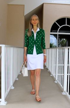 (Video) Classic Fashion Over 40/A Short White Dress, Polka Dot Cardi…And Not-So-Perfect Thighs – JLJ Back To Classic/JLJBackToClassic.com