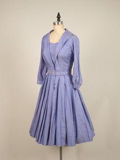 1950s silk shirtwaist dress vintage 50s by MintageClothingCo