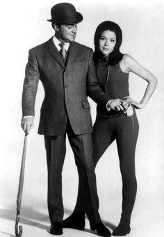 Patrick MacNee et Diana Rigg en 1969