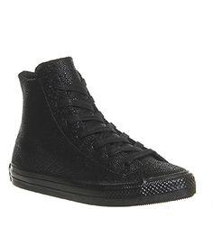 6824b1b3182bda Converse Ctas Gemma Hi Black Mono Stingray Leather - Hers trainers