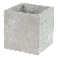 Pot carré céramique Gris clair - Jimmy - Les cache-pots - Les cache-pots et plantes - Jardin - Décoration d'intérieur - Alinéa