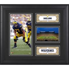 """Jake Long Michigan Wolverines Fanatics Authentic Framed 15"""" x 17"""" Player Collage"""