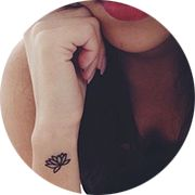Small Lotus Tattoo Desigin: On Side Outer Wrist