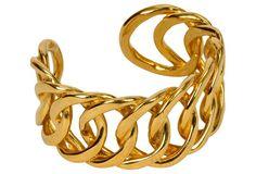 Chanel Rare 80's Gold Chain Cuff