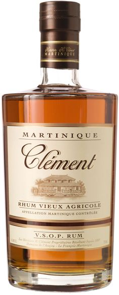 "Rhum Clément VSOP Vieux Agricole.  Aged for a minimum of four years, this #rum earned a score of 96 points from Wine Enthusiast, which called it ""perfectly balanced"" and the best new rum on the market. 