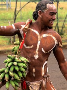 Native Preparing to Compete in Banana Race, Tapati Festival, Rapa Nui, Easter Island, Chile Photographic Print by Bill Bachmann at AllPosters.com