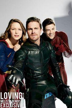 "Supergirl X Flash X Arrow ""Best team-up ever! Supergirl Dc, Supergirl And Flash, Saga Film, Snow Queen, Marvel Dc, Arrow Flash, Hobbit, Kara And Mon El, Dc Comics"