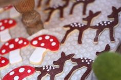 and deer cookies at a Little Red Riding Hood girl birthday party ...