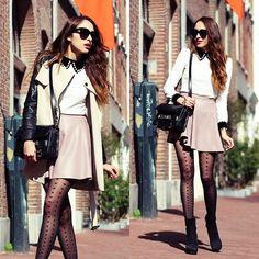 Udobuy Dress, Viparo Leather Skirt, Chicwish Trench Coat