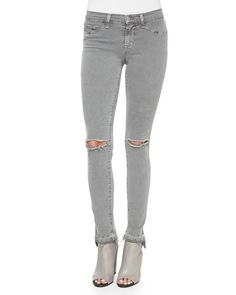 J Brand Jeans Mid-Rise Skinny Jeans, Silver Fox ($188)                  Image Source: Getty