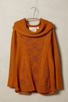Anthropologie Angel of the North Crocheted Cowl Pullover on shopstyle.com