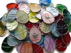 Stained Glass Easter Eggs by BlueFishStudios on Etsy, $6.00