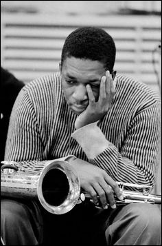 24hoursinthelifeofawoman: 1958. John Coltrane during a recording session at Columbia Records.