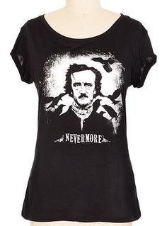 Edgar Allan Poe Nevermore Tee at PLASTICLAND