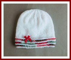 Christmas Glitz Baby Hat         Christmas Glitz Baby Hat             Requirements    King Cole Glitz DK yarn –    in White (Shade Code...