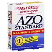 Get up to 25% OFF Azo Standard Maximum Strength Tablet $5.78. As the #1 trusted, over-the-counter pain relief brand, AZO offers products to diagnose a UTI, treat UTI symptoms and help maintain a healthy urinary tract, as well as provide all-natural relief and prevention of yeast infection symptoms and fast, immediate relief from feminine itch.
