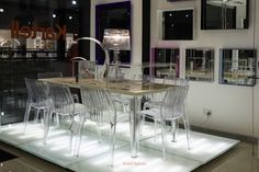 Kartell #kartellBahrain Showroom! Displaying #Crystal #transparent products  #Taj, #Bourgie , #Usname #Frilly #Toptop Table #Chairs #furniture Photo Taken by @shuttersparx  @Fregellehoney