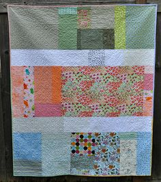 Pieced backing - granny quilt back