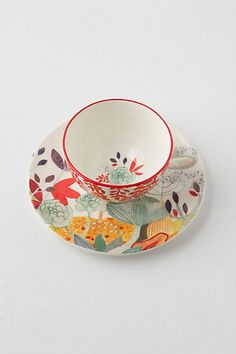 My new favorite thing to collect and use... tea cups... Anthropologie- Evenings In Quito Cup & Saucer $16