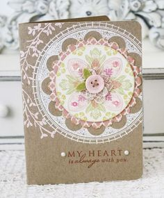 round repeats stamp set- Papertrey Inc. Card Making Inspiration, Making Ideas, Wedding Decor, Shabby Chic Cards, Ideas Geniales, Heart Cards, Sympathy Cards, Card Tags, Paper Cards