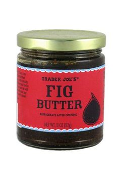 Just tried Trader Joe's Fig Butter this weekend and I am HOOKED! Delicious spread on my Mom's homemade muffins and anything else I can think of.including consuming it by the spoonful! This is my new favorite. Fig Appetizer, Appetizers, Trader Joe's Cheese, Fig Butter, Best Trader Joes Products, Trader Joes Food, Fig Newtons, Fig Bars, Homemade Muffins