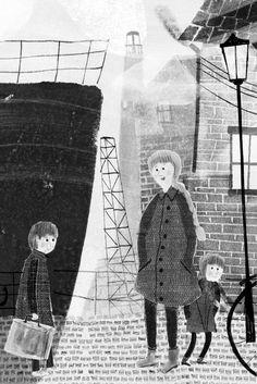 Flip tiene doce años y, hasta hace poco, vivía en Ámsterdam. Este es el punto de… People Illustration, Children's Book Illustration, Illustration Styles, Black And White Drawing, Black And White Illustration, Storyboard, Juan Palomino, Monochromatic Art, Sketching Techniques
