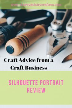 My review of Silhouette Portrait cutting machine and a few of my essential must know features to get you started. #crafting #silhouttereview #portaitmachine Business Goals, Business Advice, Online Business, Business Education, Business Management, Business Branding, Decoupage Letters, 7 Places, Craft Online