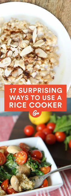 The rice cooker isn't a one-hit wonder. It can also be used for amazing curry, soup, polenta, and desserts. #healthy #recipes http://greatist.com/eat/super-surprising-rice-cooker-recipes