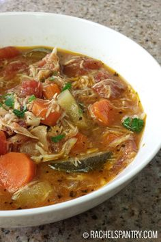 Italian Chicken and Vegetable Soup -- simple and good. This works for Phase 3 with the olive oil, or Phase 1 without (just saute the veggies in a couple tablespoons of broth instead).