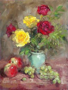 Red and Yellow Roses by Barbara Schilling - Second Place  http://www.artisttableonline.com/Exhibition/lgaexhibition