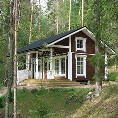 A little cottage : ) Cottages And Bungalows, Cabins And Cottages, Tiny Cabins, Tiny House Cabin, Cabins In The Woods, House In The Woods, 2 Story House Design, House Exterior Color Schemes, Romantic Home Decor