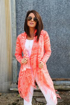 Some Kind Of Day Cardi {Neon Orange} from The Rage. Saved to Quick Saves. Shop more products from The Rage on Wanelo. Stylish Outfits, Fall Outfits, Cute Outfits, Cute Fashion, Fashion Outfits, Womens Fashion, Spring Summer Fashion, Autumn Winter Fashion, Moda Outfits